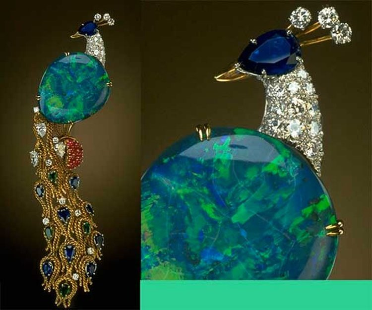 'Opal Peacock' Brooch Showcases One of the Finest Examples of the beauty of Opals