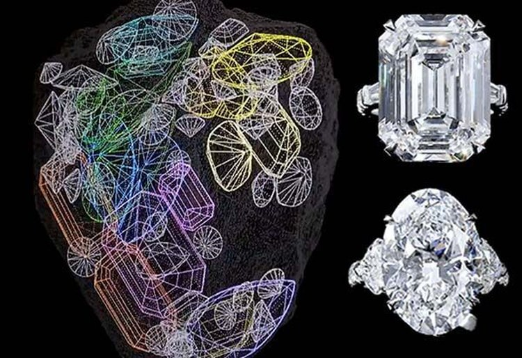 The First 67 Diamonds Are Cut From a Single 1,109 Carat Rough Diamond