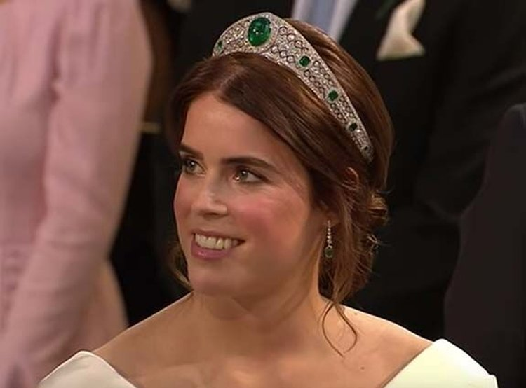 Emerald and Diamond Tiara Steals the Show at Princess Eugenie's Royal Wedding