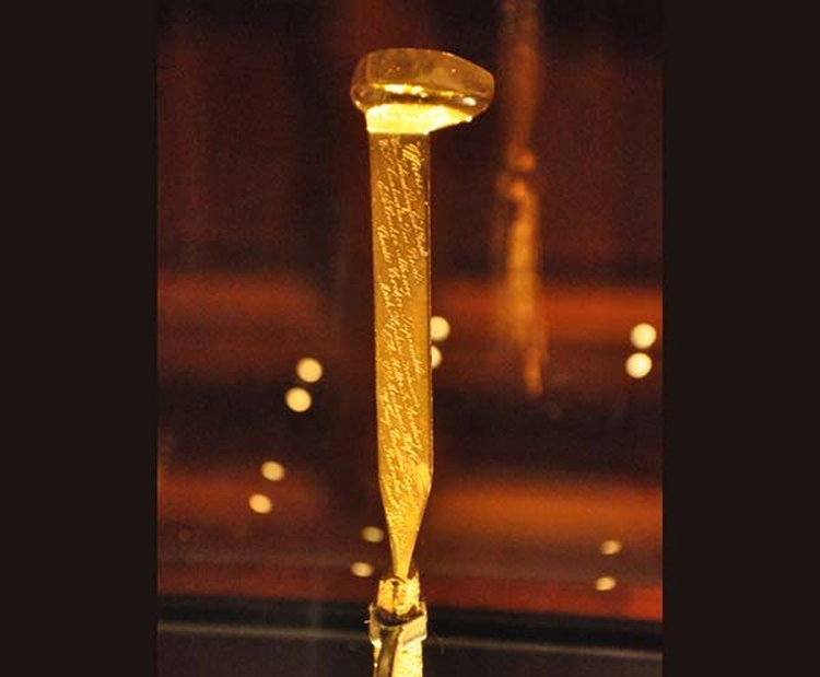 Gold Spike Symbolized Completion of Transcontinental Railroad 150 Years Ago This Month