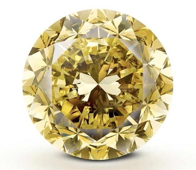 The Largest Round Brilliant Cut Fancy Vivid Yellow Diamond Ever Graded by GIA