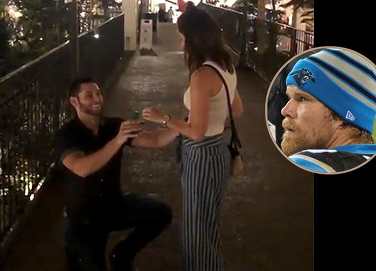 Pro Bowler Greg Olsen Films Marriage Proposal: 'Best Thing I've Ever Witnessed'
