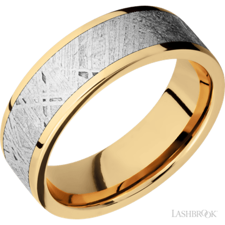 A Meteorite Wedding Band Just For Him