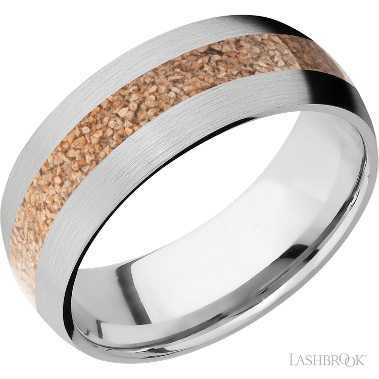 Fossilized Dinosaur Bone Wedding Bands