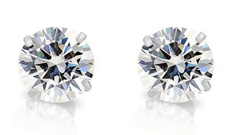 Diamond Solitaire Earring Collection